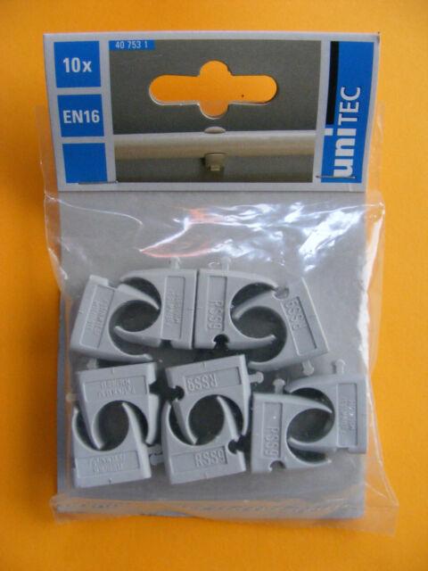 Rohrschellen Unitec Klemmschellen für Isolierrohr EN 16  10er Pack