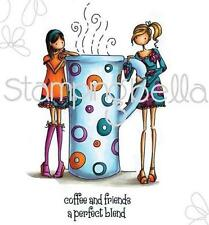 New Stamping Bella Cling Rubber Stamp uptown girl Clarissa & Camille Coffee