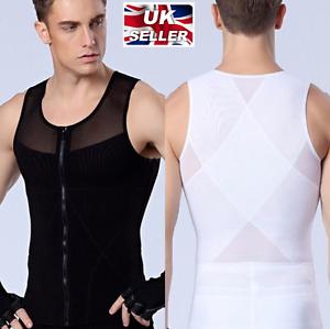 2e5c98ba11 UK Slimming Mens Shapewear Firm Belly Tummy Trimmer Underwear Vest ...