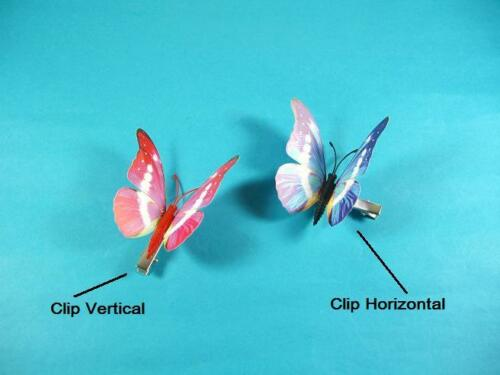 """Details about  /14 Pcs 4.7/"""",Clip On Dual Wing Butterfly,Tree Plant Ornament,Wedding Party decor"""