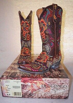 dc6d55bc681 Women's Old Gringo Olivia Embroidered Boots Vesuvio Brass Style # L1629-3 |  eBay