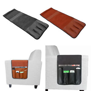 Stuhl Sofa Sonnenbrille Fernbedienung Nachttisch Armlehne Caddy Organizer mit 4 Taschen Aufbewahrung f/ür Handy Magazin Sofa-Aufbewahrung beige Aufbewahrung Nachttisch-Caddy