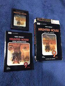Atari 2600 Haunted House CIB - game box & manual (Rare Black Box ) Tested Sears