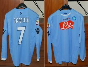 Maglia Shirt Napoli Originale Cavani 2010 11 Manica Lunga Azzurra Xl Ebay