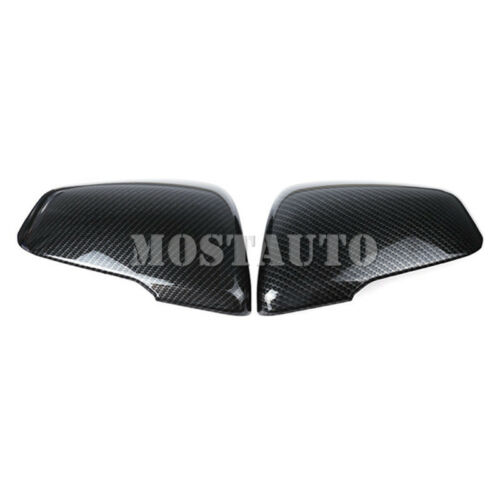 For BMW X1 F48 Carbon Fiber Style Rearview Mirror Frame Trim Cover 2016-2019