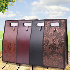 XP-Art Leather Wine Bag Resuable Double Layered Protective 2 Bottles Wine Carriers Bag for Thanksgiving or Chrismas