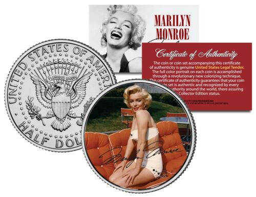 Marilyn Monroe SUMMER Kennedy JFK Half Dollar OFFICIALLY LICENSED U.S Coin