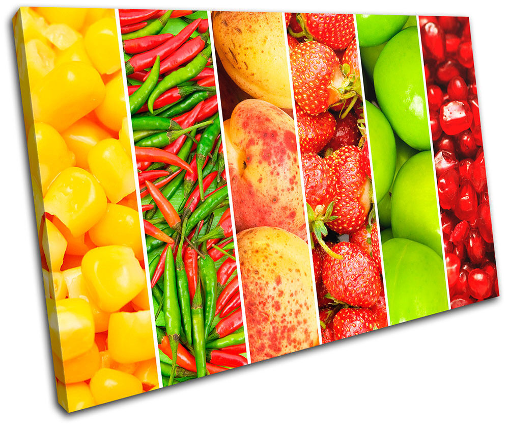 Fruit Vegatables Food Kitchen SINGLE TELA parete parete parete arte foto stampa bf8f01