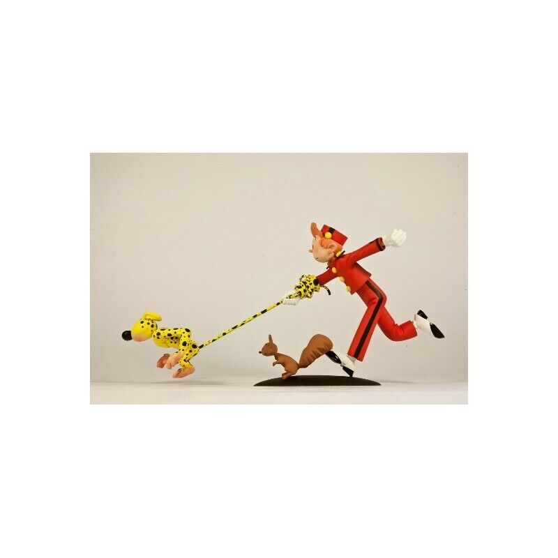 Figurine Spirou, Marsu et Spip - Franquin - FARIBOLES - SMS
