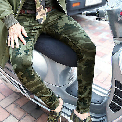 BytheR Men's Military Casual Vivid Color Camouflage Skinny Pants P000BFZP