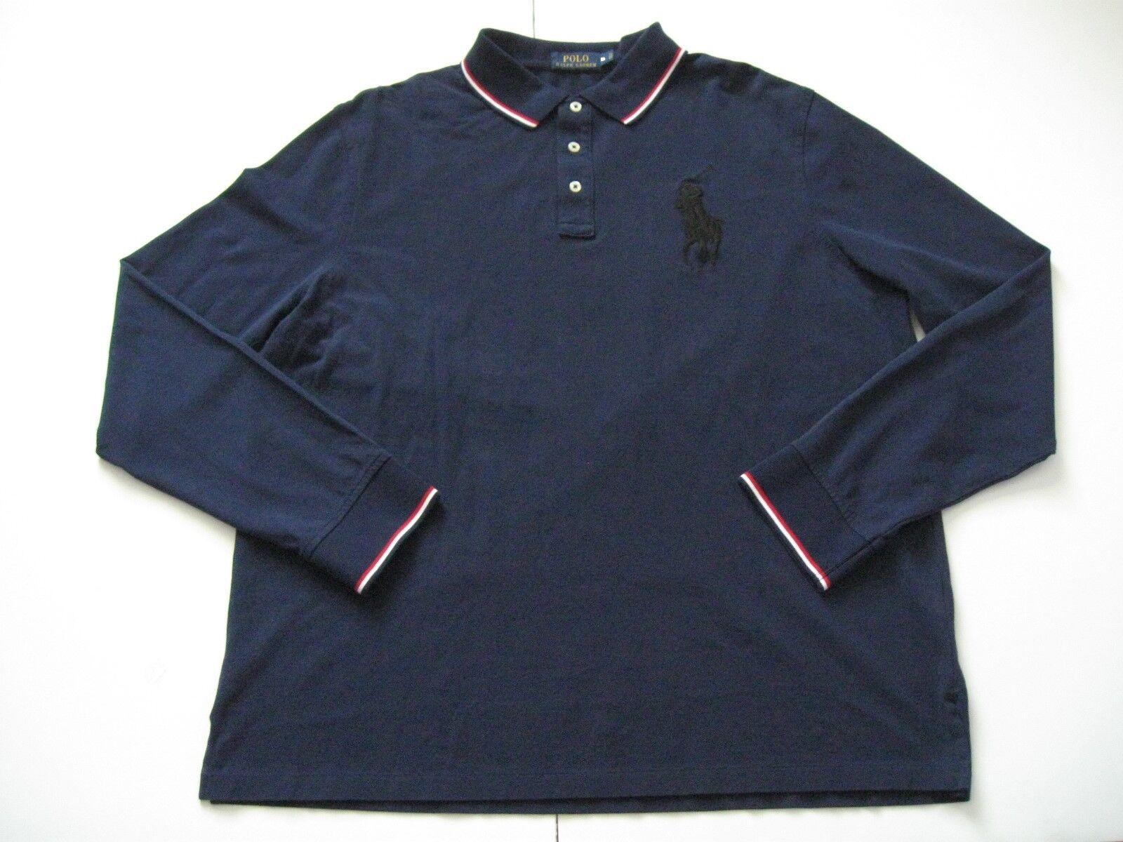 Polo Polo Polo Ralph Lauren Uomo Navy Look Morbido Maniche Lunghe Big Pony Mesh Polo XS e0853d