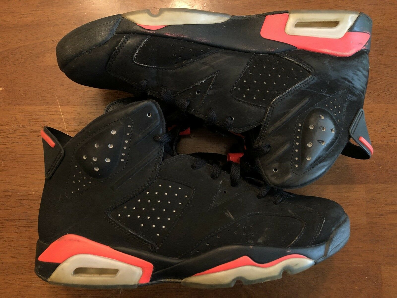 detailed look 03ded 71d69 Nike Air Jordan Retro 6 6 6 vi Negro Infrared 384664 023 comodo especial de  tiempo
