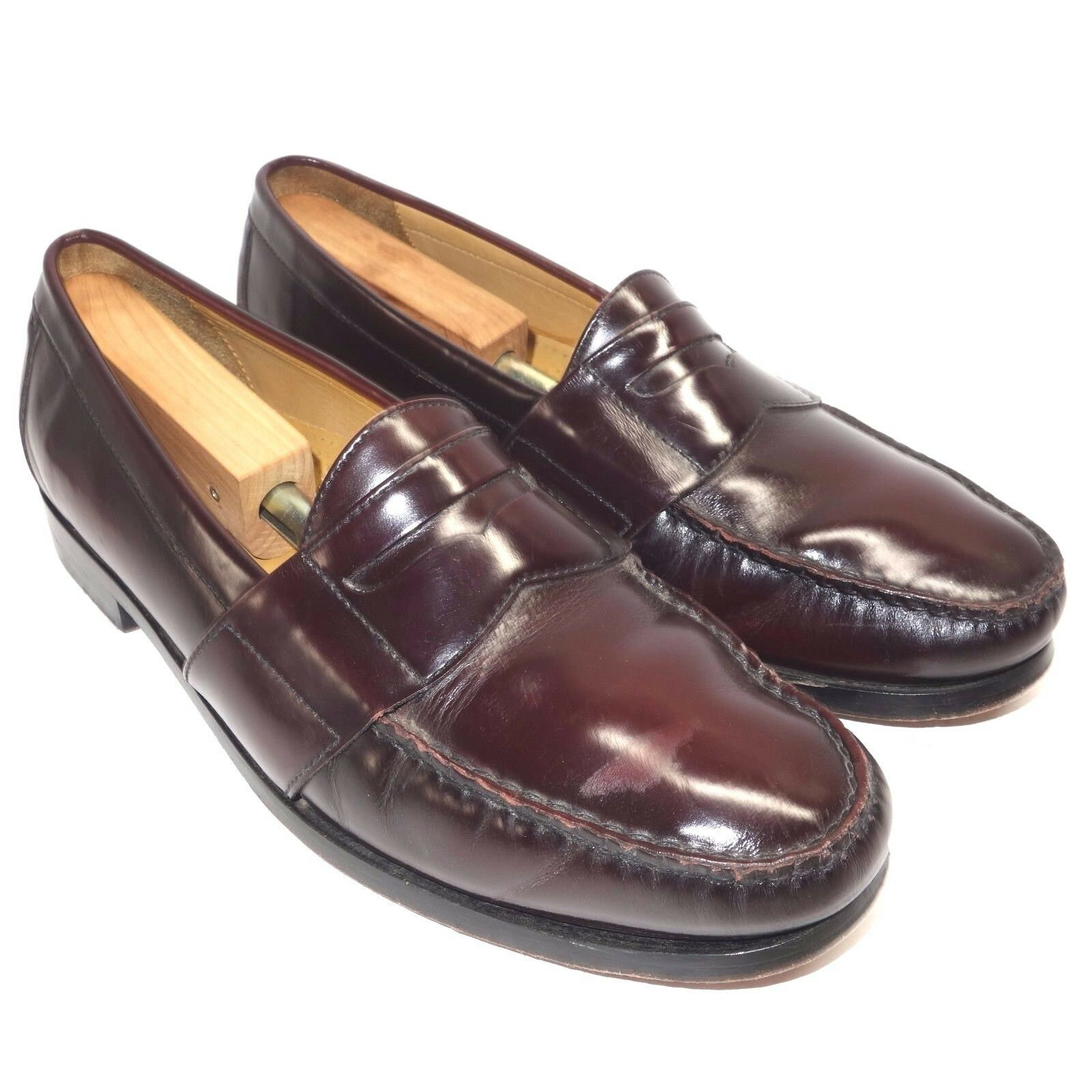 Cole Haan Burgundy Leather Pinch Penny Loafer Dress shoes Men's 10.5 M C08350