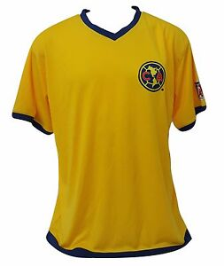 online store 16c93 d8abd Details about Club America Men's Soccer Yellow Jersey Official Licensed  Size XXL New W/Tags