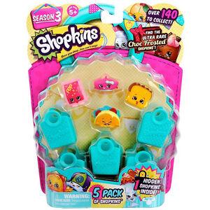 Shopkins-Season-3-5-Pack-Random-Set-NEW-Toys-Cute-Mini-Figures