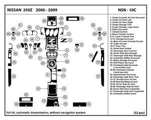 Real carbon fiber dash kit for 350z 06 09 automatic trans - 350z carbon fiber interior trim kit ...