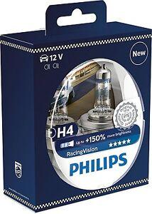 2-Bombillas-Philips-Racing-Vision-H4-150-RacingVision-Xtreme-Extreme-Coche-Moto