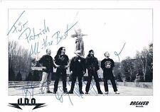 """U.D.O. genuine autographs signed 6""""x8"""" photocard Udo Dirkschneider heavy metal"""