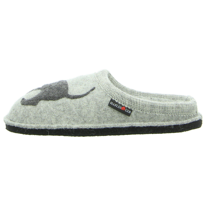 Haflinger chaussures Hausschuh Flair teckel 313021 Pierre grisonnants (gris) NEUF