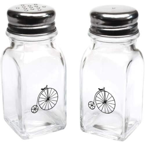 """/""""Penny Farthing /'GLASS SALT /& PEPPER SHAKERS SH00015305"""
