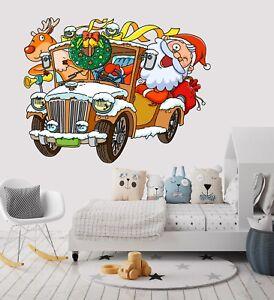 3D-Weihnachten-Xmas-Kind-4-Tapeten-Wandbilder-Fussboden-Wand-Druck-Wandaufkleber