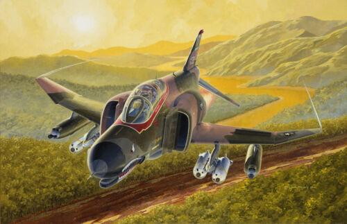 Aviation Art 366th TFW Gunfighters USAF F-4 Phantom