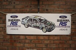 Ford-Sierra-Sapphire-RS-Cosworth-4x4-grosse-PVC-Arbeit-Shop-Banner-Garage