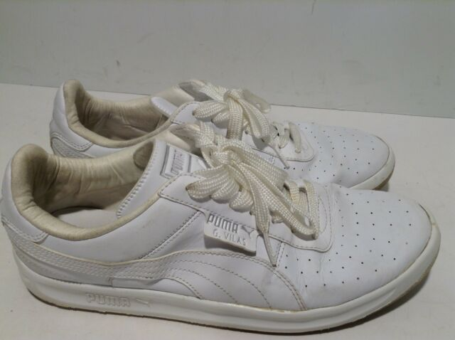 PUMA G.VILAS L2 MEN'S WHITE MET SILVER SHOES #35275801 Size 10 EUR 43