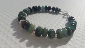 EMERALD-AND-STERLING-SILVER-BRACELET