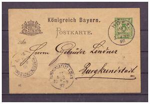Baviere-Entier-Postal-P-44-Hof-apres-Burgkunstadt-16-08-1897