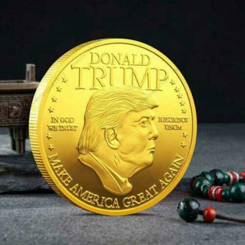 2PCS 2020 Donald Trump Inaugural Gold Plated Commemorative Novelty Coin @MY