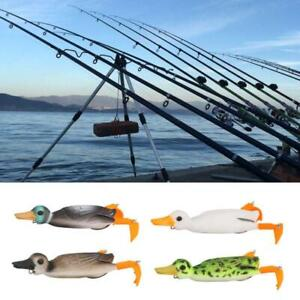 Soft Lure Fishing Duck Frog Bait Topwater Simulation Floating Artificial Bait r