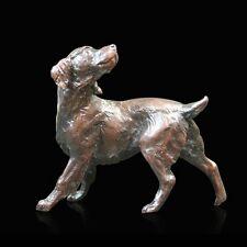 Small Springer Spaniel Dog Bronze Foundry Cast Sculpture Michael Simpson [825]