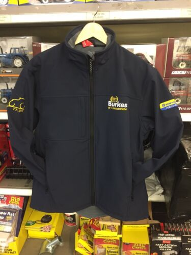 New Holland Navy Soft Shell FLEECE LINED Jacket fully Embroidered.