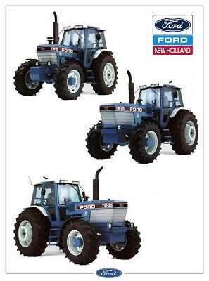 Ford Tractor TW35 TW25 TW15 7910 New Holland folleto de ventas//cartel anuncio A3