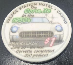 1-Las-Vegas-Palace-Station-Corvette-in-the-1950-039-s-Casino-Chip-UNC
