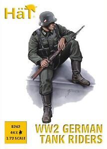 Sombreros-1-72-20mm-II-Guerra-Mundial-Aleman-pilotos-de-tanque-FIGURAS-KIT