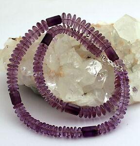 Amatista-Collar-Natural-Cadena-de-Piedras-Preciosas-Lentes-Purpura-Plata-925