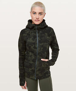 top-rated newest 100% satisfaction guarantee official price Details about Lululemon Scuba Hoodie Jacket 4 Incognito Camo Multi Gator  Green Camouflage ICMI