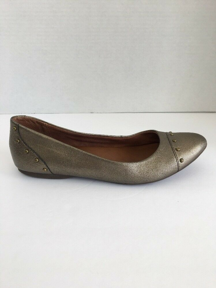 Korks Kork Ease Womens Anabel Ballet Flat 7.5 Bronze Leather Studded Cap Toe