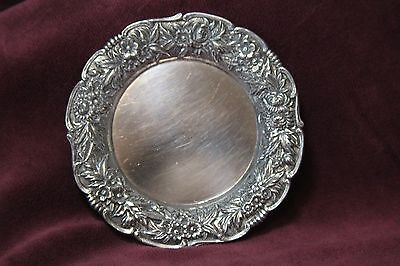 S Kirk /& Son Repousse Sterling Silver .925 Butter Pat  Dish # 17F 1.3 oz