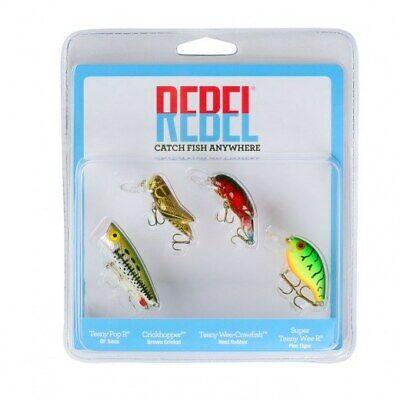 Crickhopper Crawfish Rebel Micro-Critters Ultralight Lures 3 Pack Pop R