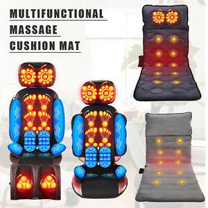 Massage Chair Cushion Massage Pad Mat Shiatsu Massager Seat Back Heat Office