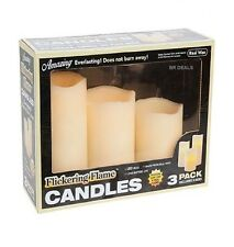 REAL WAX FLICKERING CANDLES BATTERY OPERATED DECORATION FOR YOUR HOME