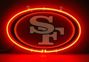 """San Francisco 49ers Neon Sign Lamp Light 14/""""x10/"""" 3D Acrylic With Dimmer"""
