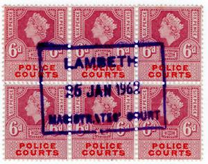 I-B-Elizabeth-II-Revenue-Police-Courts-6d-Lambeth-Magistrate-039-s-Court