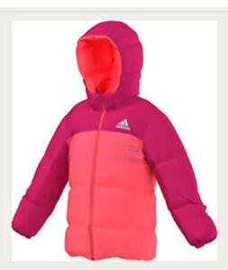 AB4681 Daunenjacke Kinder abnehmbarer Kapuze Jacke Winter zu Adidas Mädchen Details echte qSzMVUp