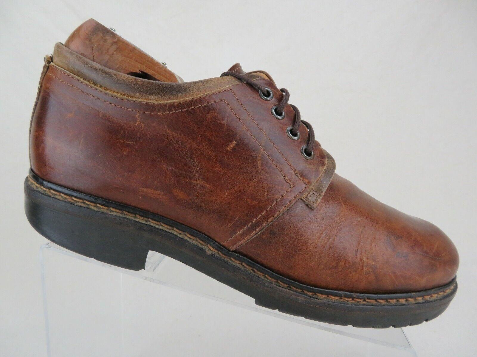 JOHNSTON & MURPHY Plain-Toe Brown Sz 11.5 M Men Dress shoes