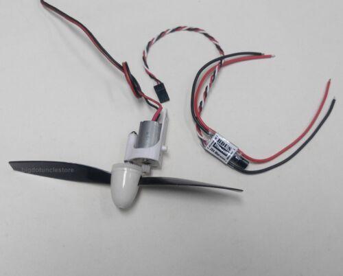 064K: 1 set 130 Brushed Motor ,160mm Prop. & 15A ESC , FW:200g for DIY airplane