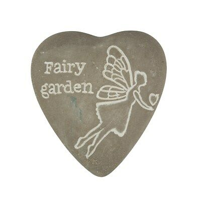 Adattabile Sass & Belle White Wash ~ Fairy Garden ~ Inciso Cuore Di Pietra Decorazione Pebble-